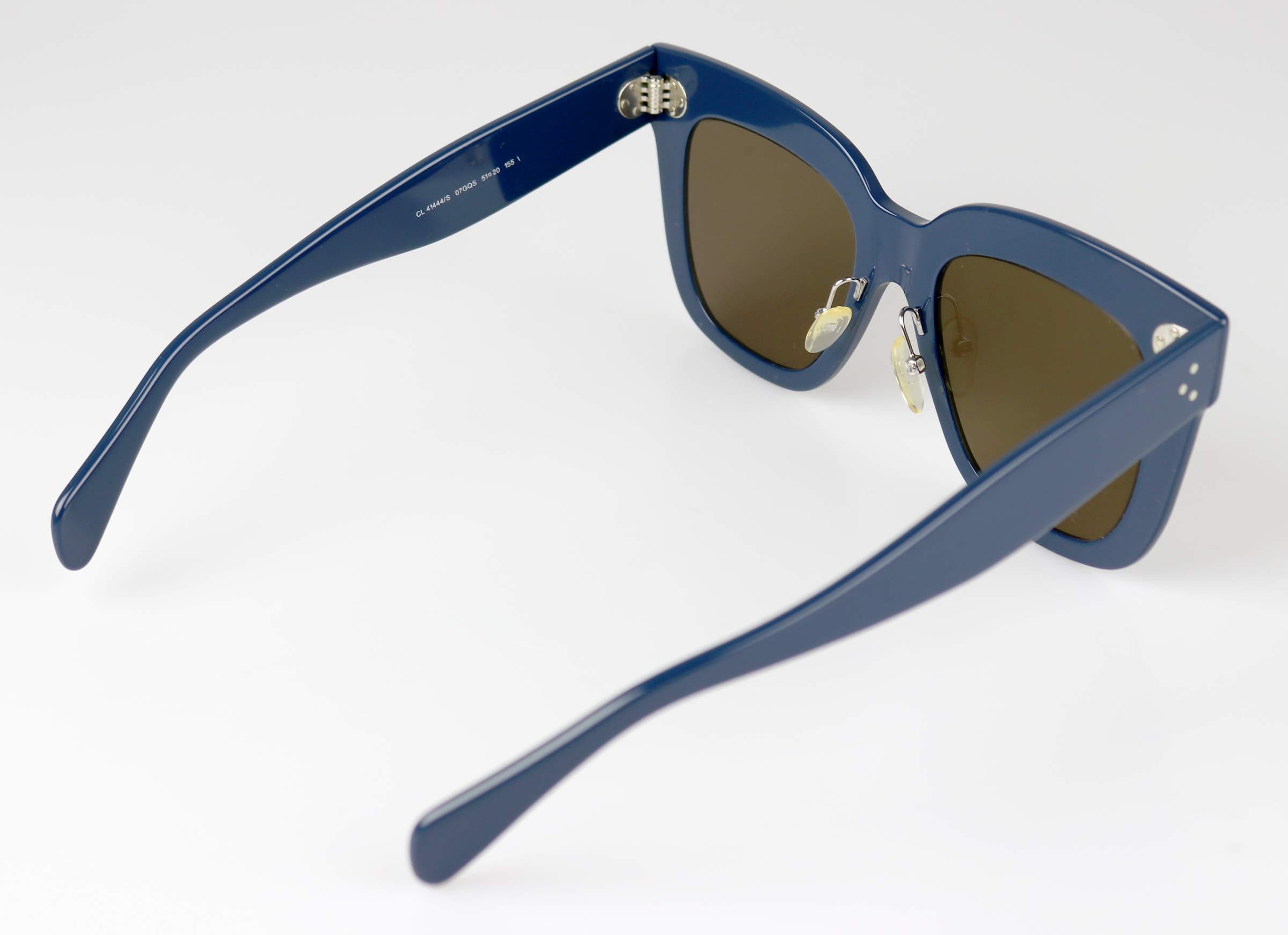 d6e660aa97b Celine Kim CL 41444 07G Blue Plastic Square Sunglasses Brown Lens ...