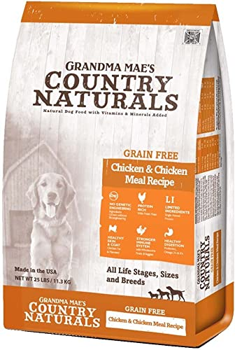 Grandma Mae S 79700190 4 Lb Country Naturals Grain Free Chicken Chicken Meal Dog Food, One Size