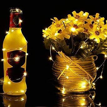 LEEDY Creative 20 luces LED de alambre de cobre para decoración ...