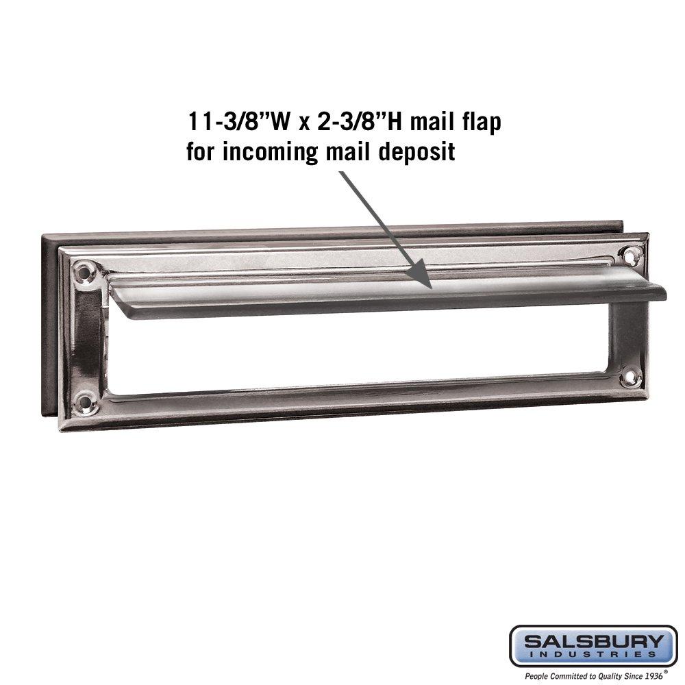 Salsbury Industries 4045C Mail Slot, Standard/Magazine Size, Chrome Finish