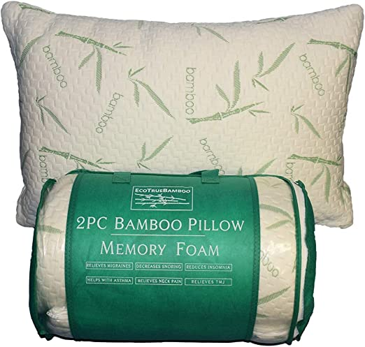 Queen Size Bamboo Memory Foam Pillow Brand New in Package