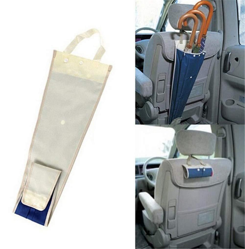 yongy Foldable Waterproof Umbrella Holder Cover for Car Back Seat Umbrella Storage Bag Receive Bag for 3 Umbrellas