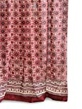 Saffron Marigold – Ruby Kilim – Red, Black, and Tan Turkish Inspired Hand Printed – Elegant Romantic Sheer Cotton Voile Curtain Panel – Tab Top or Rod Pocket – (46 x 84) Review