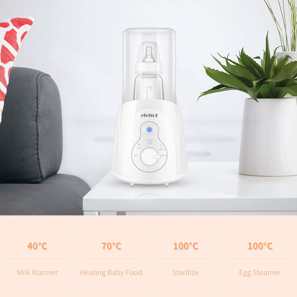 Calienta biberones Calentador biberón eléctrico Esterilizador multifunción 4 en 1 para la casa y el bebé ELEHOT