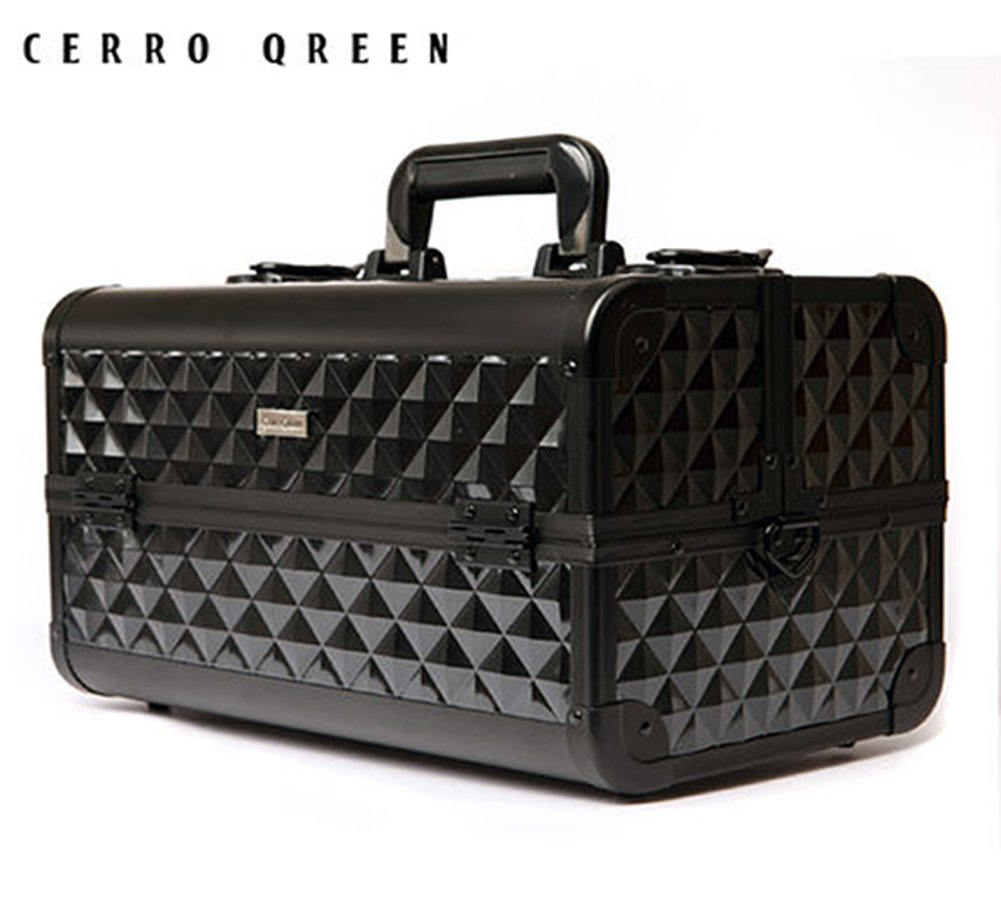 CERROQREEN Train Case Professional Large Make Up Artist Organizer Kit -Black by CERROQREEN