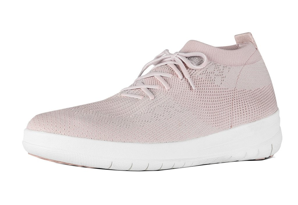FitFlop trade; Womens Uberknit™ Slip-On High Top Sneakers Neon Blush/White Size 8