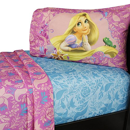 Disney Tangled Let My Hair Down Twin Sheet Set by Disney