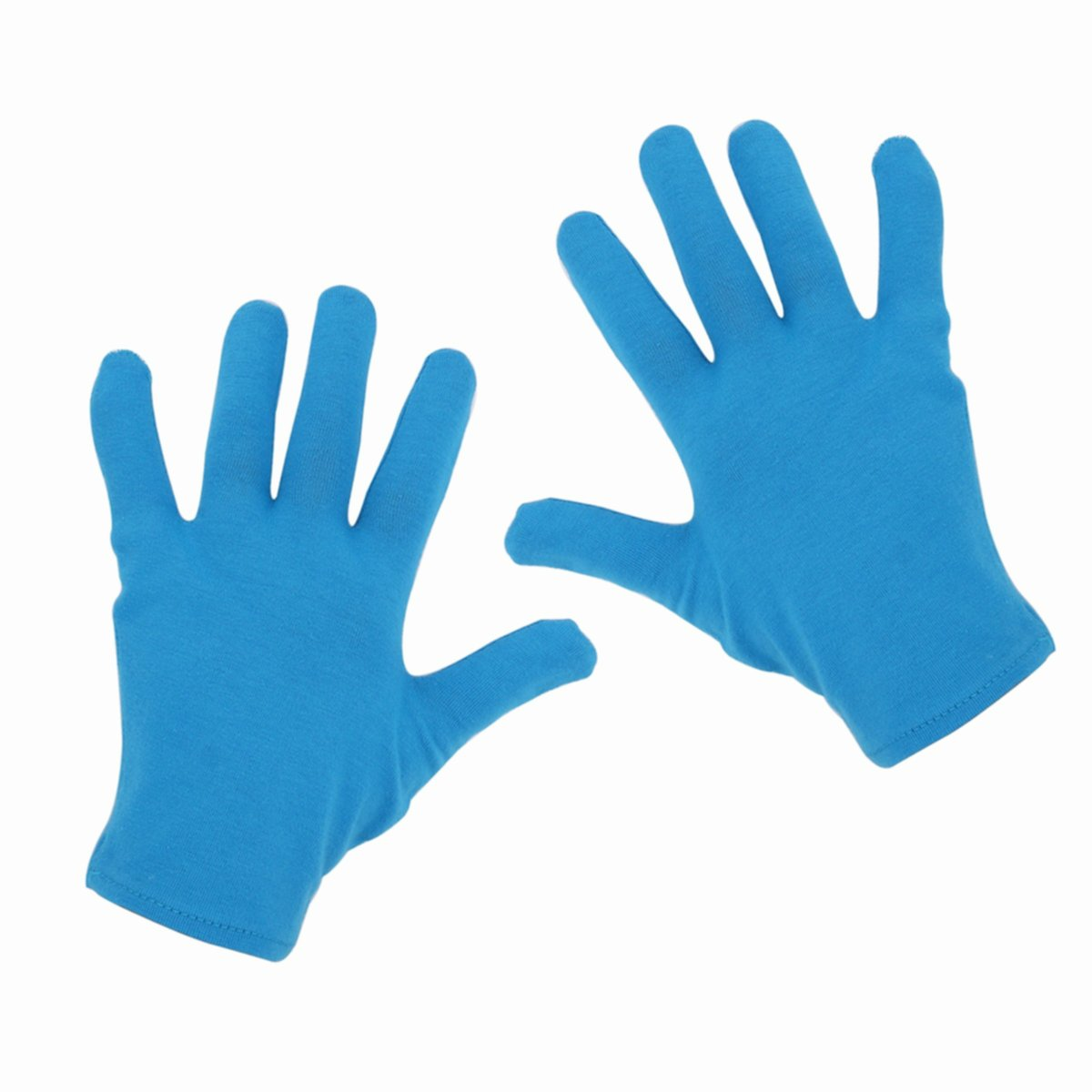 Zcoins 4 Pairs Moisturizing Gloves Socks Moisture Enhancing Purpose for Dry Cracked Hands and Feet (4 Pairs gloves only-Blue)