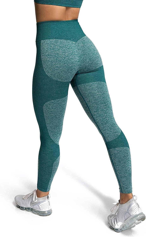 iWoo - Mallas deportivas para mujer, cintura alta, elásticas, con bolsillo para el móvil