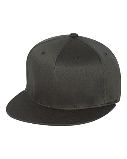 41f9f83a749 Flexfit 6297F Adult Wooly Twill Pro Baseball On-Field Shape Cap with Flat  Bill Dark