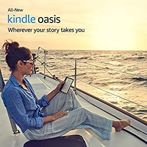"All-New Kindle Oasis E-reader - Graphite, 7"" High-Resolution Display (300 ppi), Waterproof, Built-In Audible, 8 GB, Wi-Fi - Includes Special Offers"