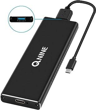 QNINE [actualizado] NVME Carcasa, NVME USB Carcasa USB 3.1 Gen 2 ...
