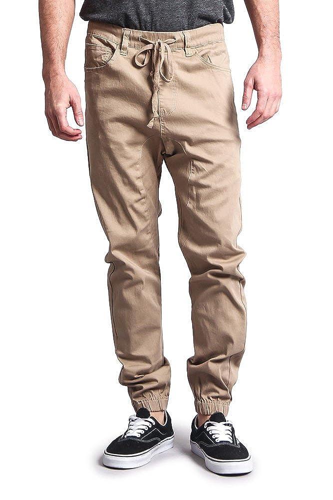 Victorious Mens Drop Crotch Jogger Twill Pants