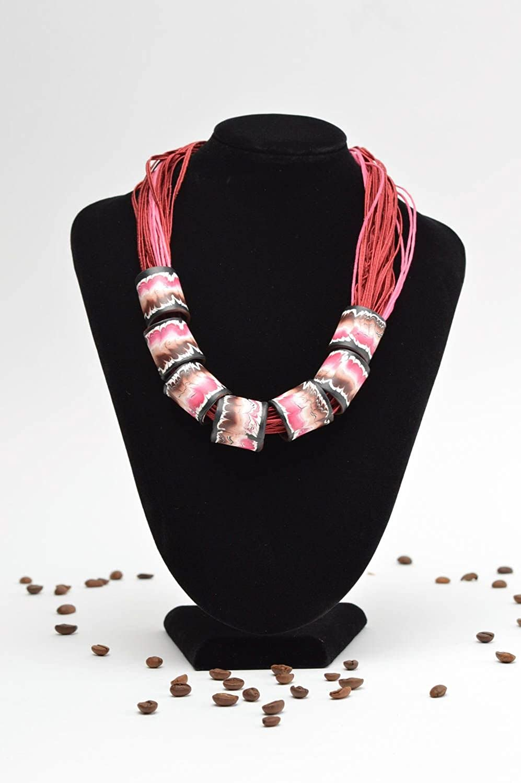 Volume Designer Necklace Stylish Handmade Jewelry Interesting red Accessories