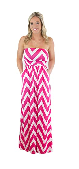 34afd4989e3f CYP Women s Sleeveless Rayon Chevron Empire Maxi Dress Zigzag Pockets. Roll  over image to zoom in. Charm Your Prince