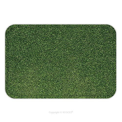Flannel Microfiber Non-slip Rubber Backing Soft Absorbent Doormat Mat Rug Carpet Artificial Turf Green 73580353 for Indoor/Outdoor/Bathroom/Kitchen/Workstations