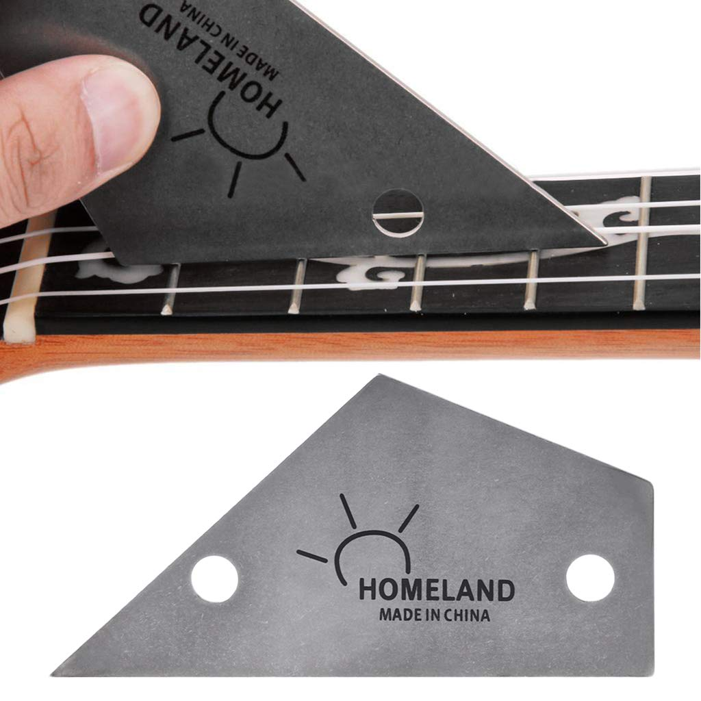 Xineker Fret Bascule Outil Triangle R/ègle Fabricants Dacier Inoxydable Luthiers Guitare Outil Fournitures