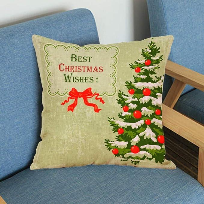 Fundas Navideñas para Cojines Adorno para Fiesta de Navidad Alces de Navidad Que teñen Sofá Cama Decoración para el hogar Funda de Almohada Cojín ...