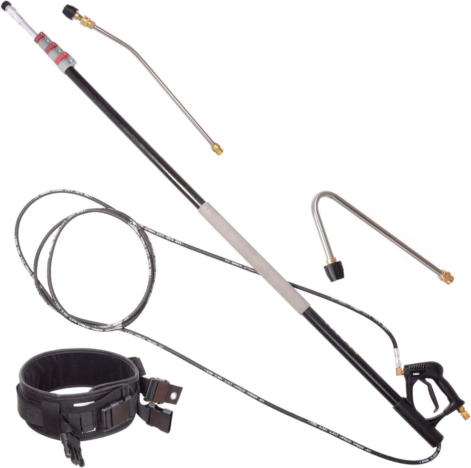 24ft Telescopic Lance for KARCHER Pressure Washer 7.4m Nozzle Belt with Gutter Cleaning Lance