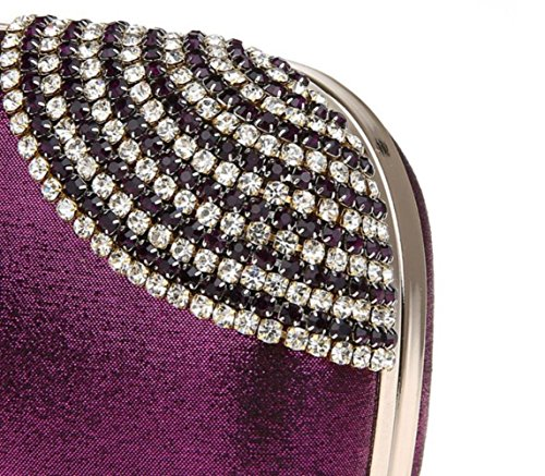 Bag For Evening Fashion Purple Rhinestone Material Velvet Party New WenL OAF4qxwT4