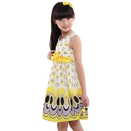 3b02c2db2 Amazon.com  Clearance Sale!! Vicbovo Little Girls Sleeveless Dress ...