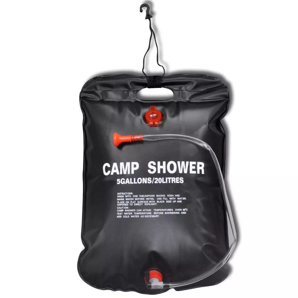 20L mit Duschkopf tragbare Camping Dusche Pool Warmwasser Shower Gartendusche Pooldusche Schwarz Solardusche Campingdusche Tasche Galapara 2er Set Solar Gartendusche