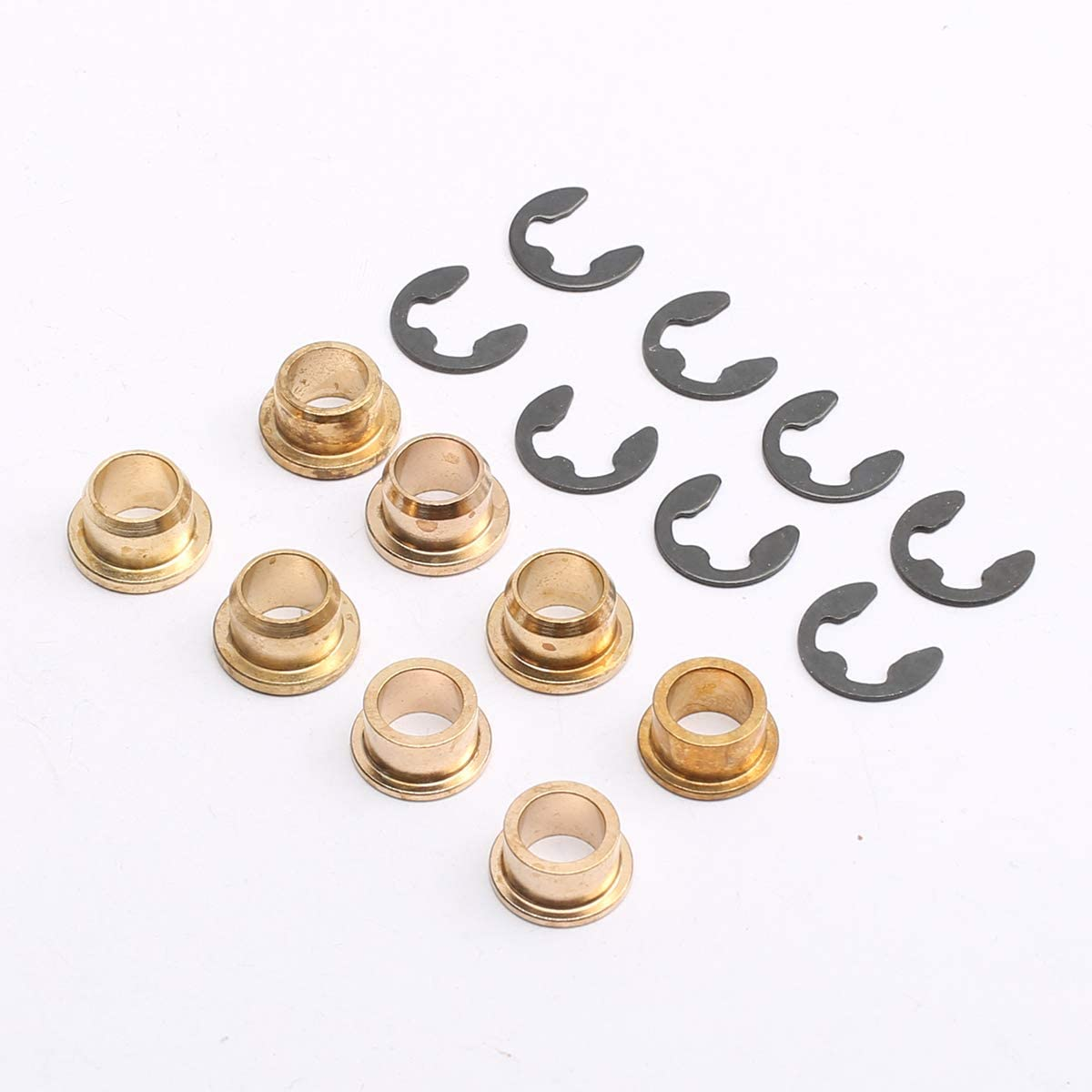 Compatible with Ford F150 F250 F350 Bronco Car Door Hinge Pins /& Pin Bushing Front both Door Kit PeakCar Replaces 38410 AM-33073275