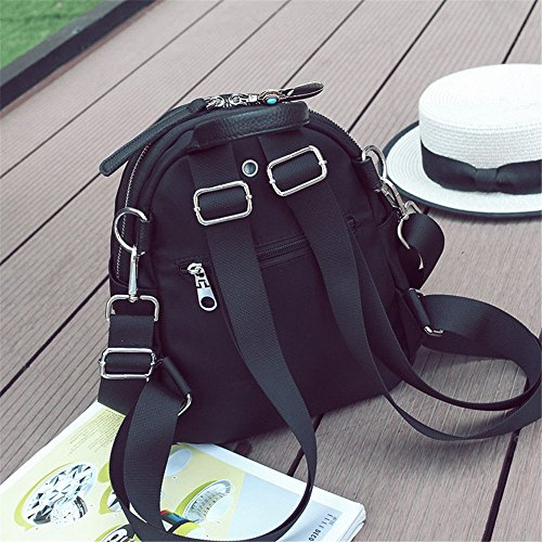 Backpack 25 New Purse Travel FashionGirls 20 nero nero 10CM 1qnOpxf