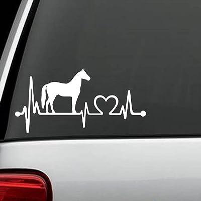 Bluegrass Decals K1074 Horse Heartbeat Lifeline Decal Sticker: Automotive