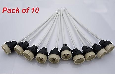 GU10 Casquillo, JRing Portalámparas GU10 para Bombillas LED y Halógenas (10Pcs)