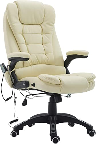 HOMCOM High Back Faux Leather Adjustable Heated Executive Massage Office Chair