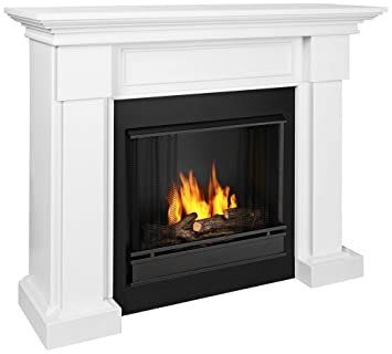 Buy Real Fame Hillcrest Gel Fireplace White: Gel & Ethanol Fireplaces - Amazon.com ? FREE DELIVERY possible on eligible purchases