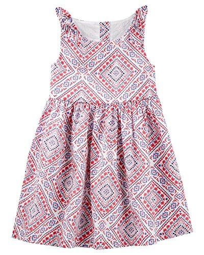 OshKosh B'Gosh Girls' Summer Dresses (Red/White/Blue Bandana, 4T)