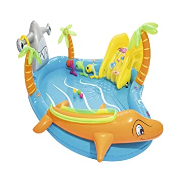 Amazon.com: Bnml piscina inflable, casa de rebote con ...