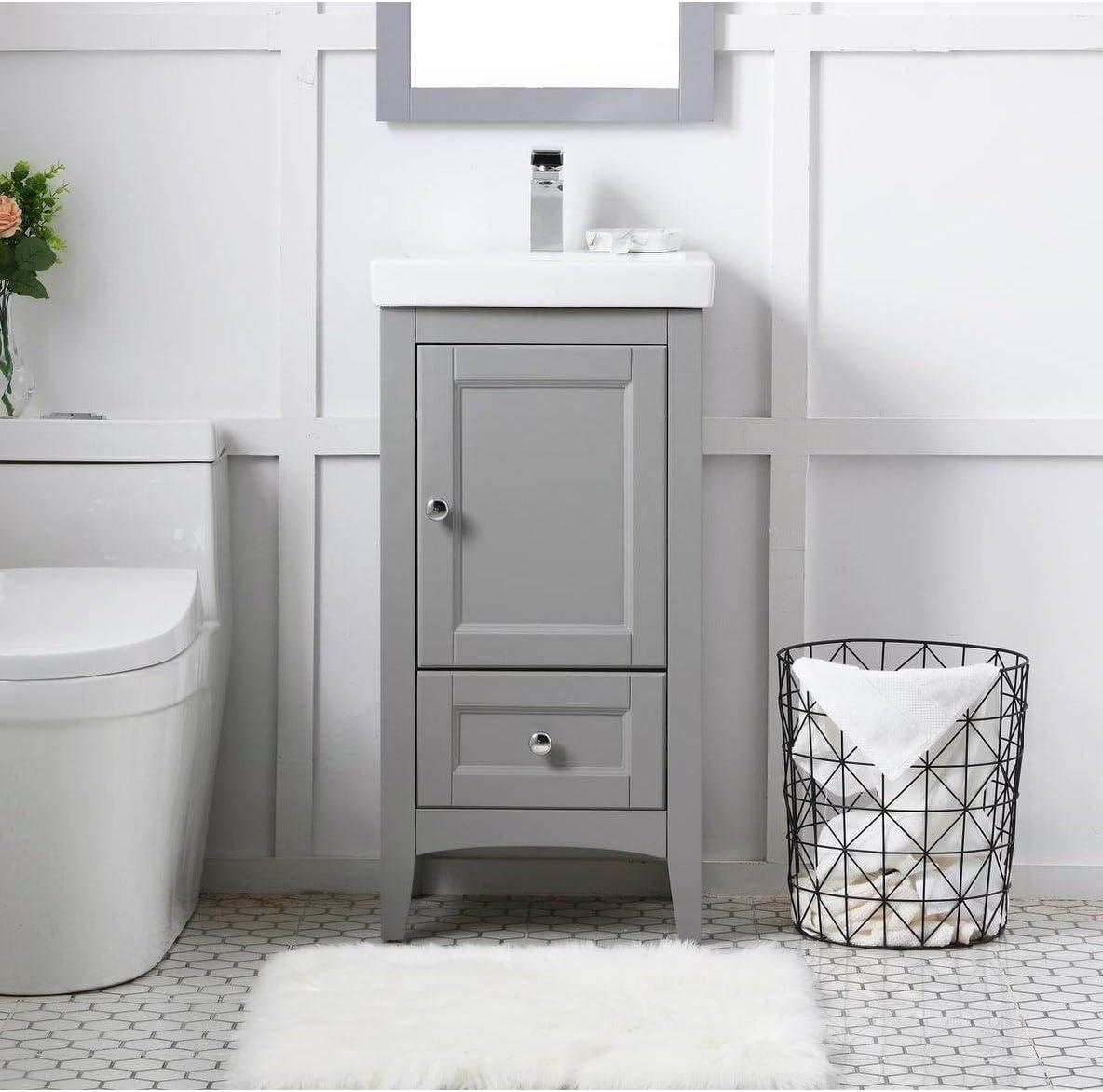 Amazon Com Indigo Home 18 In Single Bathroom Vanity Set Grey Furniture Decor