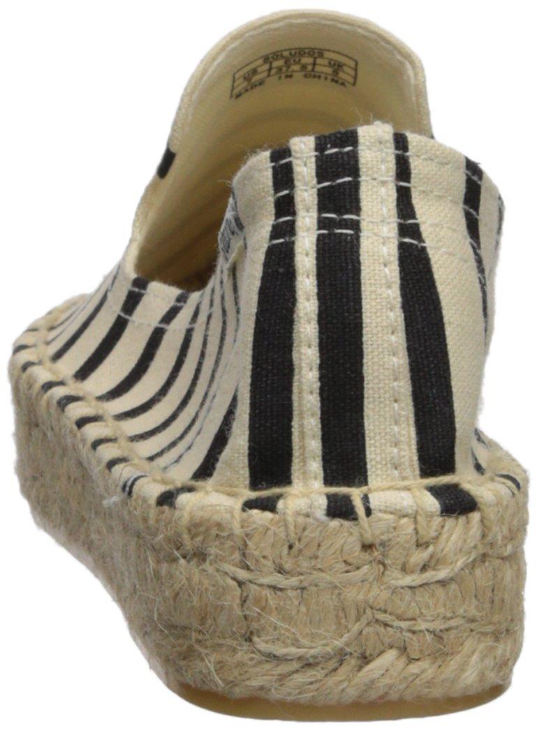Soludos Women's Classic Stripe Smoking Slipper B074LV1SZF 6 B(M) US|Natural/Black