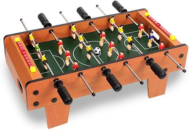 Futbolines Futbolín/foozeballs/Mesa de fútbol Infantil de Mesa/futbolín Bolas/de Seis Polos futbolín Mesa de Juego/Interactivo (Color : Wood Color, Size : 50 * 25 * 15.5cm): Amazon.es: Hogar