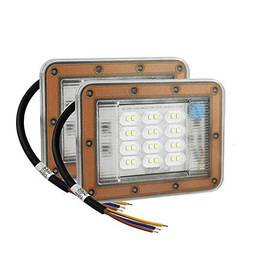 2X Viugreum 50W Ultra-thin LED Flood Lights Daylight Outdoor Security Fixtures