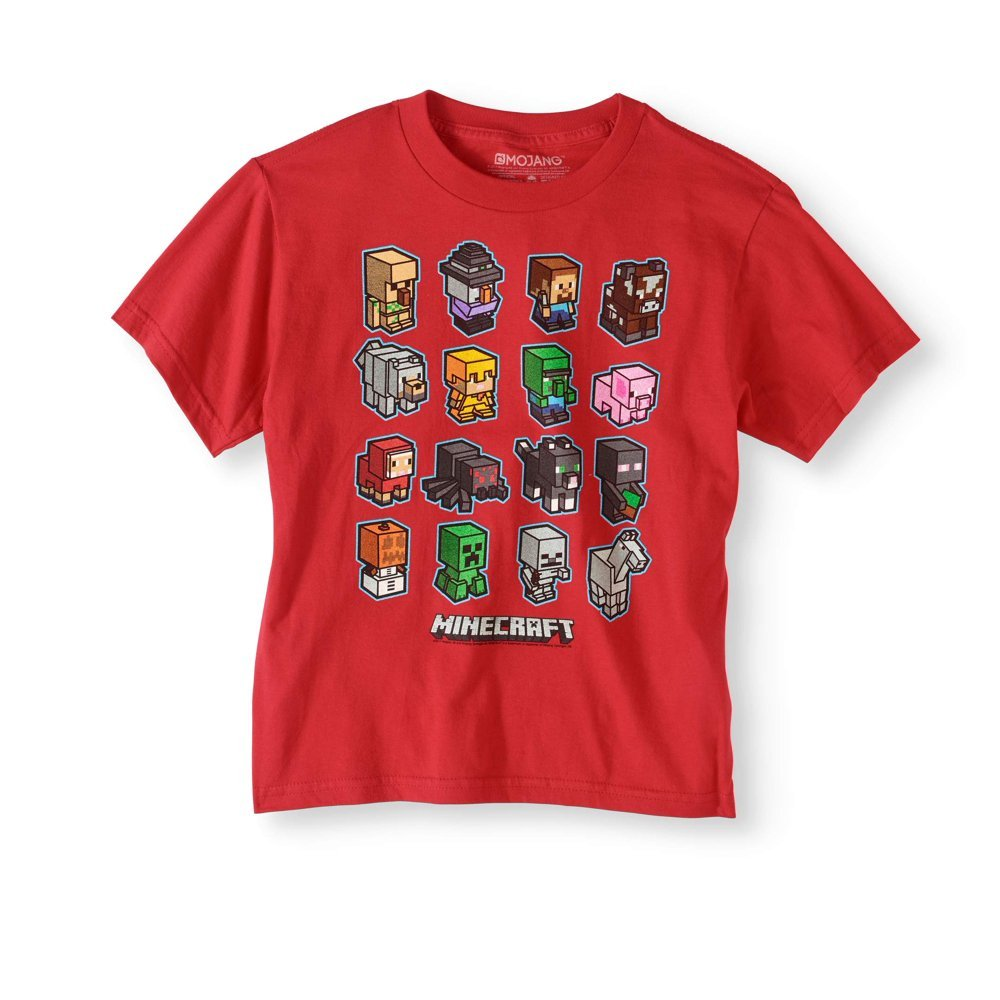 Minecraft Boys' Short Sleeve Mini Mob Graphic T-Shirt