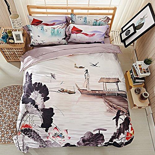 TheFitペイズリーテキスタイル寝具for Adult u1403 ARTIST ANDペイント布団カバーセット100 %エジプト綿800スレッドカウント、クイーンセット、4ピース B01M9FEHY8