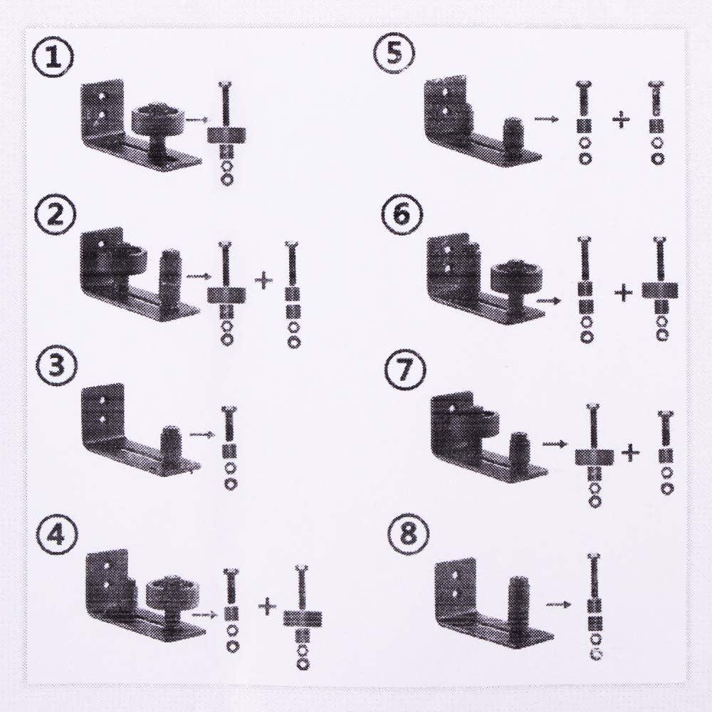 canal ajustable lisse Guide de plancher de porte de grange guide de plancher inf/érieur pour tout le mat/ériel de porte de grange coulissante guides de rouleau fix/és au mur affleurant le sol