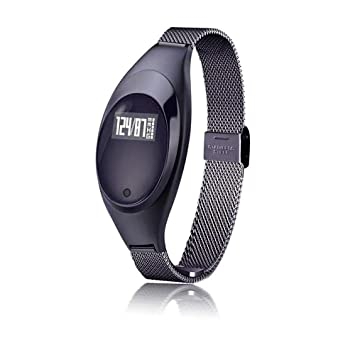 ZCY Mujer Moda Reloj Inteligente Bluetooth Movimiento Pulsera Ritmo Cardiaco Monitor GPS Actividad Rastreo Reloj (Color : Negro): Amazon.es: Electrónica