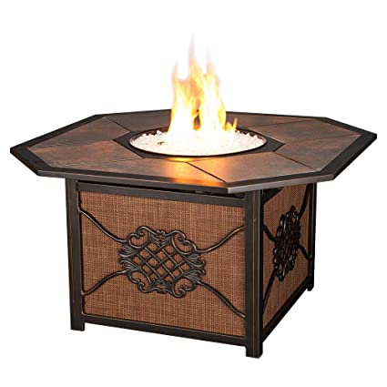 Agio Willowbrook Patio Furniture.Agio Willowbrook Gas Fire Pit With Copper Reflective Fire Glass