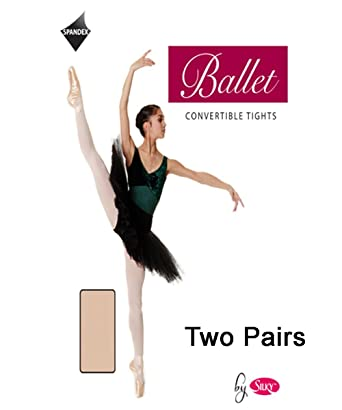 ab19fd8c4756d 2 Pairs Silky Childs Convertible Dance Ballet Tights 2 Pairs: Amazon ...