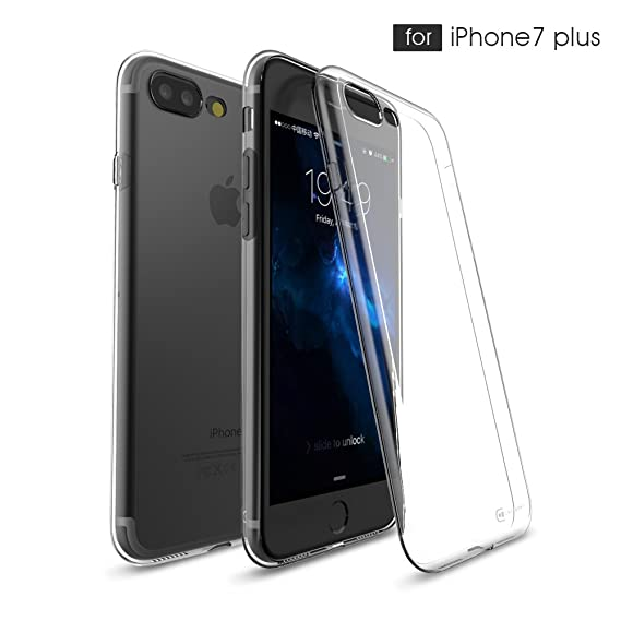 ba51c77e2 Apple iPhone 7 Plus 55 Clear Case Case Army Scratch Resistant Worlds  Thinnest Ultra Flexible Silicone
