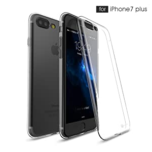 Apple iPhone 7 Plus [5.5] Ultra Slim Clear Case, Case Army Scratch-Resistant, World's Thinnest Ultra Flexible Silicone Cover with TPU Bumper Slim Soft TPU Rubber (Limited