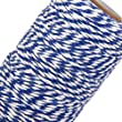 Fenical Cotton Twine Kitchen String Cooking Twine Bakers Twine 100M (Navy Blue White)