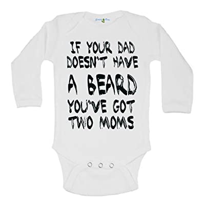 20e28f35e Snappy Suits Funny If Your Dad Doesn't Have a Beard Dad Baby Onesie Creeper