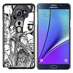EJOOY---Cubierta de la caja de protección para la piel dura ** Samsung Galaxy Note 5 5th N9200 ** --Santo Arte del monstruo del oso de peluche Wallpaper