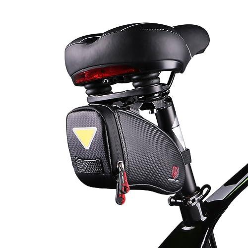 ROTTO Satteltasche Fahrrad Sattel Tasche für Mountainbike Rennrad Wasserdichter Reißverschluss